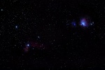 Wide Field Capture of the Horsehead-Flame Nebula and Orion Nebula