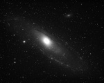 Andromeda Galaxy M31 in 3nm H-Alpha