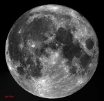 Full Moon using a Astronomic Red filter